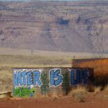 water tank on Navajo (Dine') land