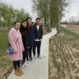Employees of Turenscape in Beijing by the Yongxing River Park project. Photo by Erica Gies.