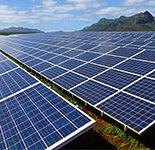 Solar panels on Kauai. Photo by Erica Gies.